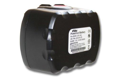vhbw NiMH Batterie 3000 mAh (12 V) pour outils outils outils de travail bOSCH gSB 12, GLI 12, PSR 12, PAG 12, GSR 12 – 1 comme 2 607 335 709