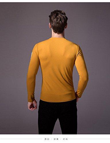 BOMOVO Herren Classics Stedman Interlock Slim T-Shirt Gelb