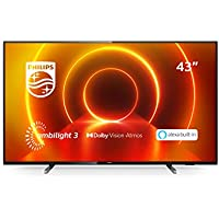Philips 43PUS7805/12 43-Inch TV with Ambilight and Alexa Built-In (4K UHD LED TV, HDR10+, Dolby Vision, Dolby Atmos, Freeview Play, Smart TV) - Plastic Gun Metal/Mid Silver (2020/2021 Model)