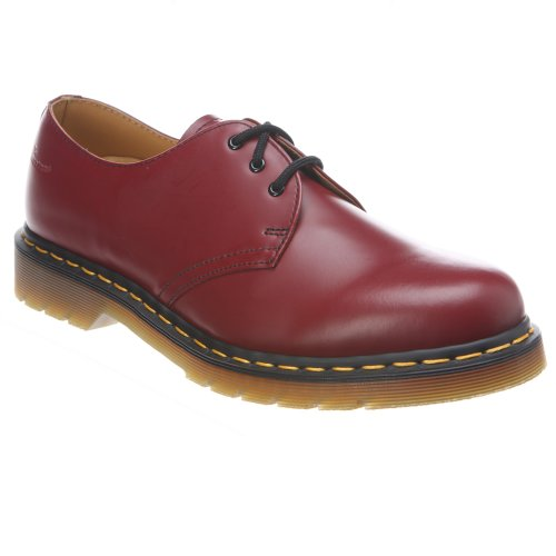 Dr. Martens 1461 Pw, Chaussures de ville mixte adulte Rosso (Cherry Red)