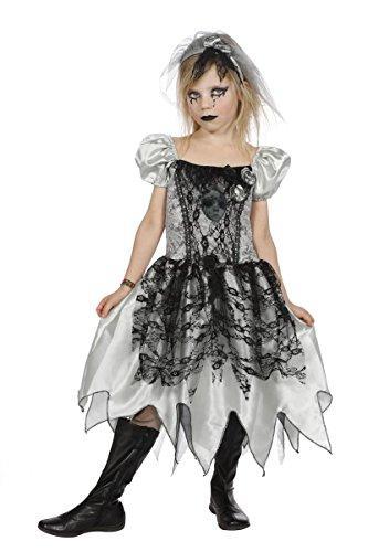 (Wilbers Kinder Kostüm Zombie Braut Geisterbraut Halloween Verkleidung Gr.128)