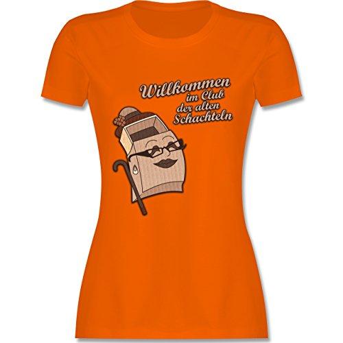 Geburtstag Willkommen im Club der alten Schachteln tailliertes Premium  TShirt mit Rundhalsausschnitt für Damen Orange