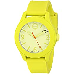ESQ by Movado Women's 36mm Green Silicone Band Steel Case Quartz Analog Watch 07101453