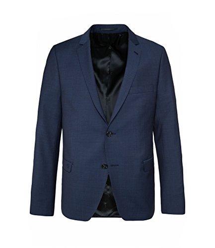 Michaelax-Fashion-Trade - Blazer - Uni - Manches Longues - Homme Bleu - Blue - Dark Royal Blue