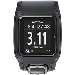 TomTom Runner Cardio - Reloj con GPS para correr, color Negro, Talla única