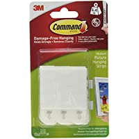 Command 17204-12 Medium Picture Hanging Strips Value Pack, White