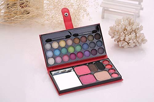 DDGE DMMS Make-up-Palette Kosmetik, 33-Farben-Beauty-Box (einschließlich Lidschatten & Rouge und Mehl und Lipgloss), professionelle Make-up-Tools - Lip Rouge Palette