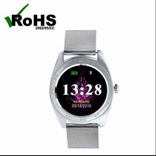Bluetooth Smart Armband Uhr Fitness Tracker Uhr mit Schlafüberwachung Herzfrequenz Monitor SMS Anrufe Reminder Schrittzähler Armband Activity Tracker Smart Sport Watch (Über Kostüme Halloween Sie Finden)