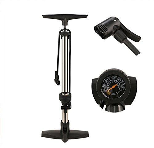 Crank Brothers CRANKBROTHERS Laufradsatz KLIC HV Pumpe mit Manometer Fahrrad-Unisex Erwachsene Silber