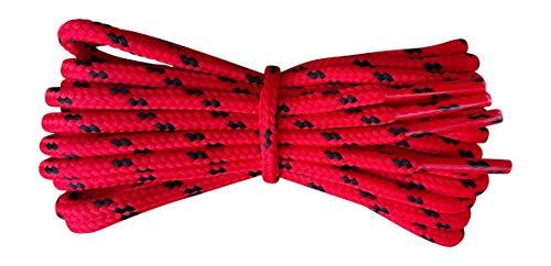 Fabmania Cordones botas - redondos 4 mm - rojo negro