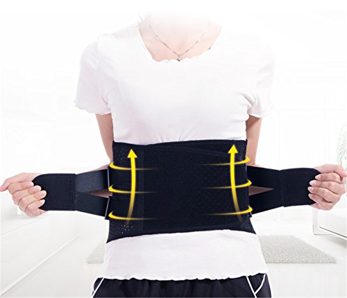Yeying123 Taillentrimmer Gürtel, Weight Loss Wrap, Magen-Fett-Brenner, Low Back und Lordosenstütze, Beste Abdominal Trainer,M