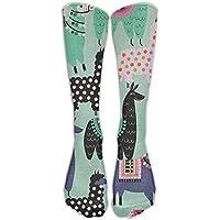 Alpaca Llama Animal Knee High Long Socks Athletic Tube Stockings For Football preisvergleich bei billige-tabletten.eu