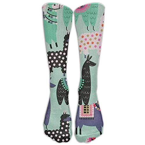 Alpaca Llama Animal Knee High Long Socks Athletic Tube Stockings For Football