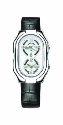 Philip Stein - 11-LDW AB - Montre Femme - Quartz Analogique - Cadran Nacre - Bracelet Cuir Noir