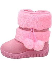 Zapatos Niño Invierno Niña Botas,JiaMeng Algodón Moda Invierno Bebé Estilo Infantil Botas de algodón
