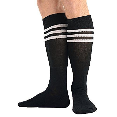 Preisvergleich Produktbild Gestreifte Athletische Fußballsocken Stutzen 1 Paar Sportsocken für Herren Auswahl an 6 Farben Größe 41-46