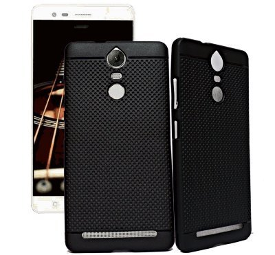 4 GADGETS lenovo-k5 note 360* Protection Premium Dotted Designed Soft Back Case Cover(black)