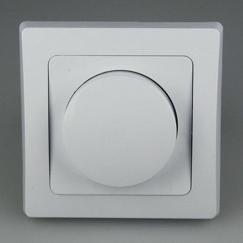 DELPHI Dimmer für elektronische Trafos, 250V~/ 300W, inkl. Rahmen, UP, weiß (Rahmen, Elektronische)