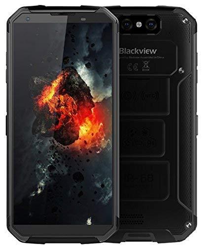 Blackview BV9500, 10000mAh-Schnellladeakku, IP68/IP69K Wasserdicht/Stoßgesichert Android 8.1 Smartphone, 2.5GHz 4GB+64GB - Schwarz