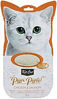Kit Cat Purr Puree Chicken & Salmon Wet Cat Treat Tubes 4