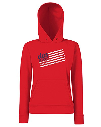 T-Shirtshock - Sweats a capuche Femme WC0624 USA T-SHIRT - DOS A CERO Rouge