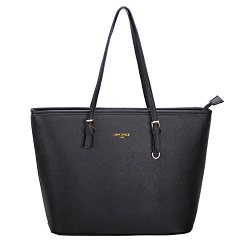 lihi-damen-handtasche-schwarz-marken-handtaschen-elegant-taschen-shopper-reissverschluss-frauen-hand
