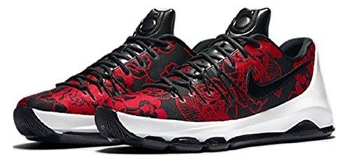 Nike, Scarpe Basket uomo Black/Black-Gym Red-SMMT White