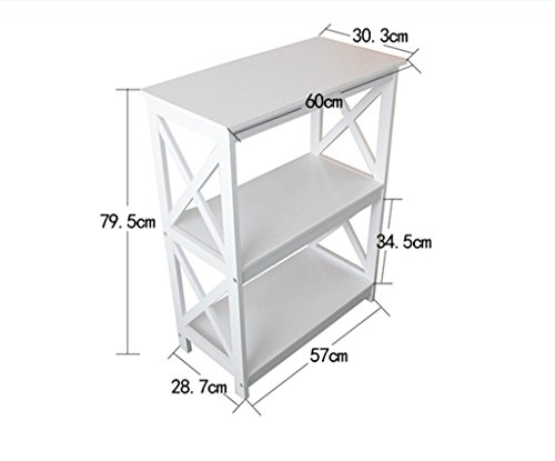 Estantería Estantería 57 (L) * 28.7 (W) * 79.5 (H) Cm Salón Estantería Estantería Rack de almacenamiento Blanco ( Color : #2 )