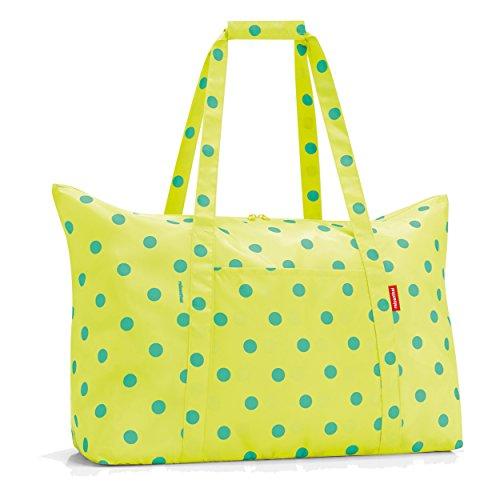 Reisenthel AG2025 Reisetasche, Polyester, lemon dots, 41 x 26 x 65 cm (Strandtasche Polyester)