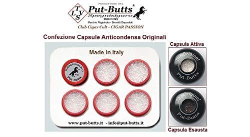 Capsule Anticondensa Antiodori ORIGINALI Made in Italy, per Spegnisigari del PRODUTTORE del Put - Butts SpegniToscano, Confezione da 6 pz.