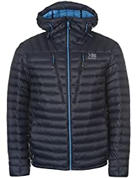 Karrimor Mens Alpiniste Down Jacket Coat Top Long Sleeve Chin Guard Lightweight