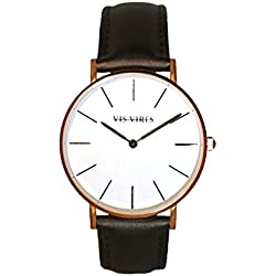 Vis Vires Visionnaire Mens Timepiece Rose Gold 40mm