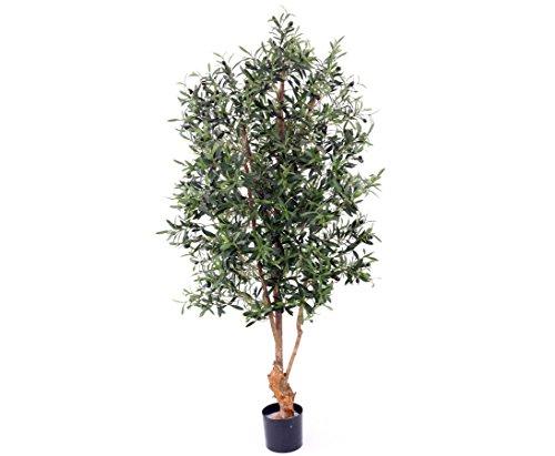 Olivenbaum, UV safe, 4160 Blätter, 120 Oliven, Höhe ca. 170cm mit Topf – Kunstbäume Kunstbaum künstliche Bäume Kunstpflanzen Kunstpalmen Dekopalmen