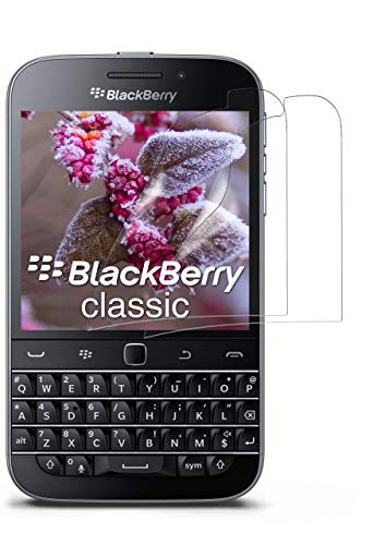 moex 2X BlackBerry Classic | Schutzfolie Klar Bildschirm Schutz [Crystal-Clear] Screen Protector Display Handy-Folie Dünn Bildschirmschutz-Folie für BlackBerry Classic Q20 Bildschirmfolie
