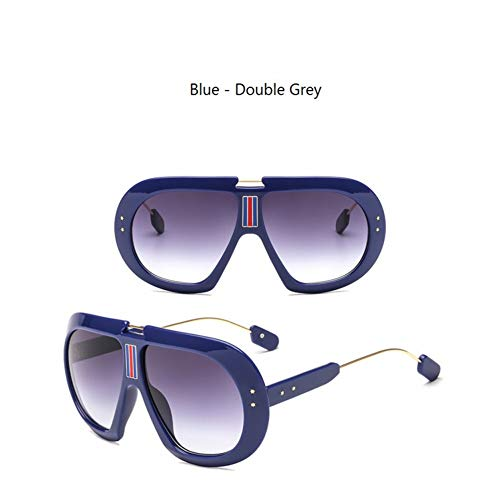 YOGER Sonnenbrillen Übergroße Grüne Und Rote Sonnenbrille Für Frauen Large Frame Ladies Shades Pink Sun Glasses Female