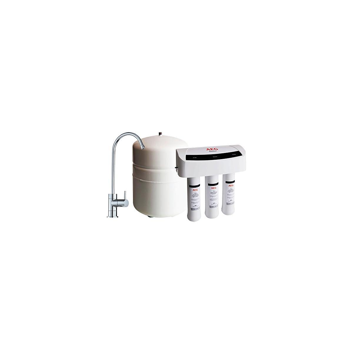 41I f%2BxapQL. SS1200  - AEG AEGRO Equipo de ósmosis inversa para la filtración de agua potable que se puede instalar directamente debajo del fregadero, Blanco