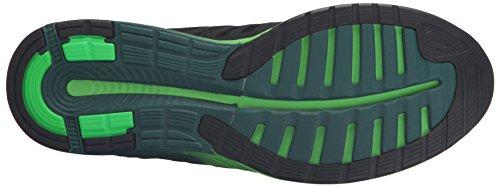 Asics FuzeX Femmes Synthétique Chaussure de Course Black-Silver-Green Gecko