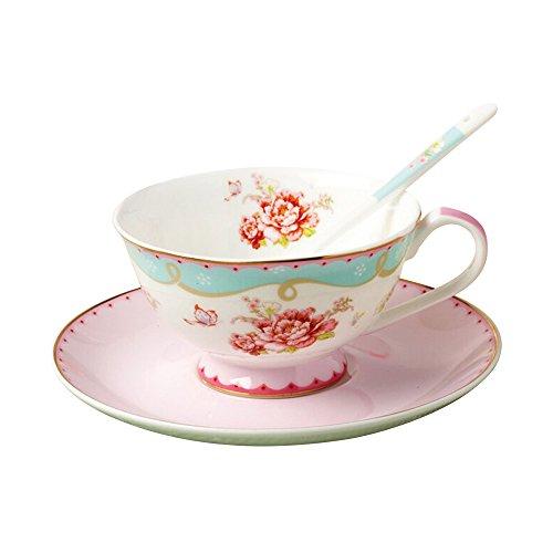 ufengke Europäischen Stil Royal Rand Golden Blume Knochenporzellan Keramik 1 Kaffeetassen Mit...
