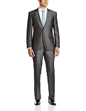 Arrow Men's  Slim Fit Suit  (8903952549646_AUMF9690_52_Charcoal lange)