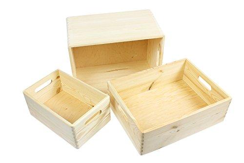 praktische Allzweckkiste aus Massivholz