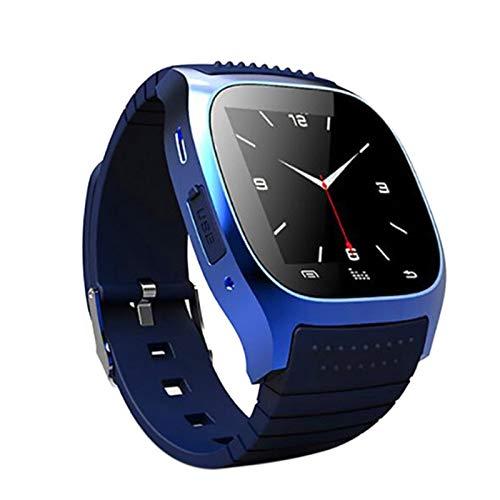 RETYLY da Polso Smart Horloge M26 Impermeabile Smartwatch Chiamata Pedometro di Musica Tracker di Fitness per Android Smart Phone PK A1 (Blu)