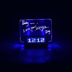 Anself Horloge Alarme réveil numérique avec tableau à écrire Message Conseil Température Calendrier minuterie
