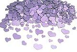 300 Stk Holz Herzen lila Naturdeko Hochzeit Tischschmuck Streuteile Holzherzen flieder violett lilac Holz Herz Dekoherzen Streuherzen Tischdekoration Streudeko Basteln Liebe Valentinstag Muttertag Tischdeko Holzherz