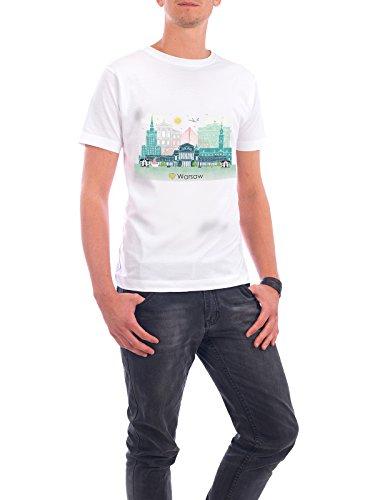 """Design T-Shirt Männer Continental Cotton """"Warsaw Skyline"""" - stylisches Shirt Städte / Weitere Reise Reise / Länder von GREENGREENDREAMS Weiß"""
