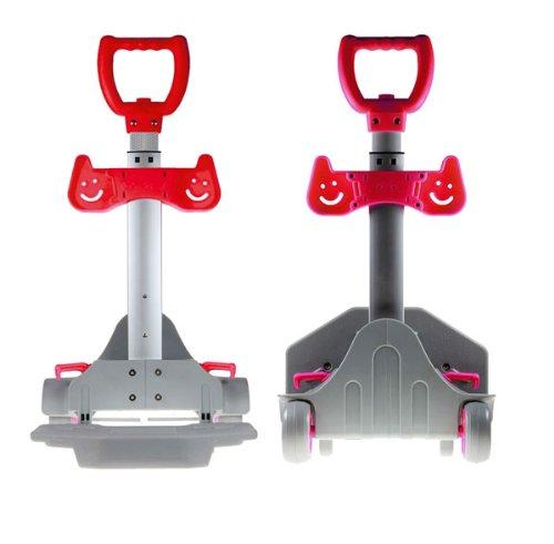 BestSaller Einfacher Trolley, 58 x 30 x 15 cm, Rot, 2 Stück