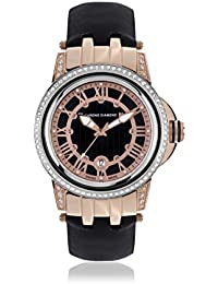 Chrono Diamond 82074_schwarz-43 mm - Reloj para mujeres, correa de cuero color negro
