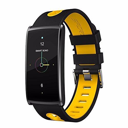 Lemumu N 68 Männer Frau Farbe Schickes Armband Schritt für Schritt Spierlernamen Modus Puls Blutdruck Wasserdicht für IOS und für Android Telefon, - Blutdruck Dock