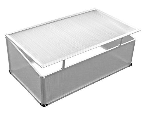 Semis 100 x 60 x 30/40 cm avec cadre en aluminium et polycarbonate Disques