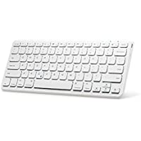 Anker Universal Bluetooth Wireless Keyboard, Ultra Compact Slim Profile Wireless Bluetooth Keyboard with Rechargeable Battery, Universal Compatibility with iPad and Computer - White