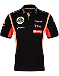 POLO 3 Botón fórmula uno 1 damas Lotus F1 patrocinador del equipo 2014/5 Negro